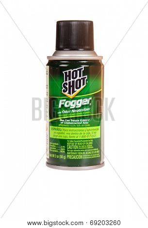 Hayward, CA - July 27, 2014: 2 oz can of Hot Shot Fogger with Odor Neutralizer