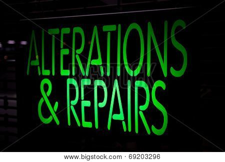 Neon Sign Alternation And Repairs