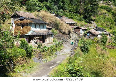 Beautiful Village In Guerrilla Trek - Western Nepal