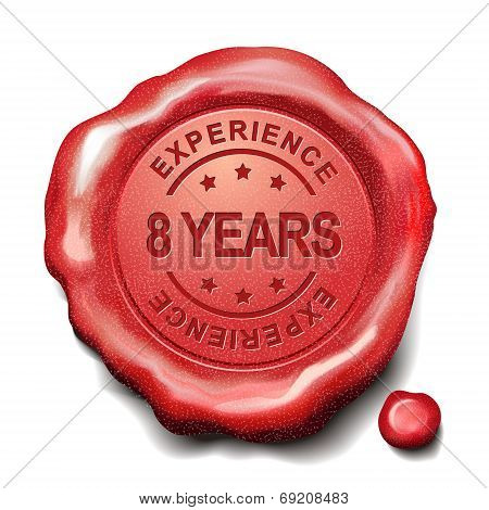8 Years Red Wax Seal