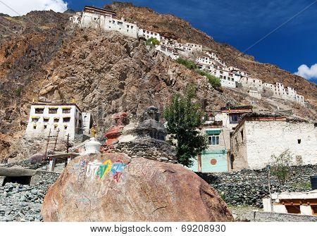 Karsha Gompa - Buddhist Monastery In Zanskar Valley - Ladakh - Jamu And Kashmir - India