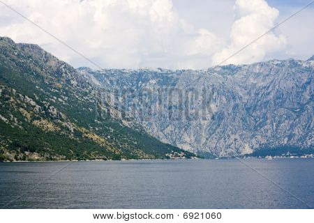 View On The Sea Coast In Montenegro
