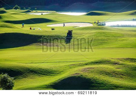 Golf club with nice green for adv or others purpose use poster