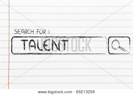 search for talent design of internet search bar on unusual surface poster