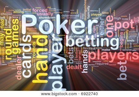 Poker wordclooud Glowing
