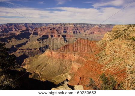 Canyon View From The Rim Trail