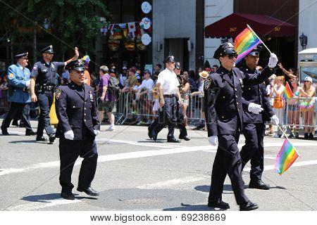 FDNY members at LGBT Pride Parade in New York City