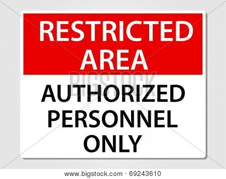 Authorized personnel only sign vector illustration