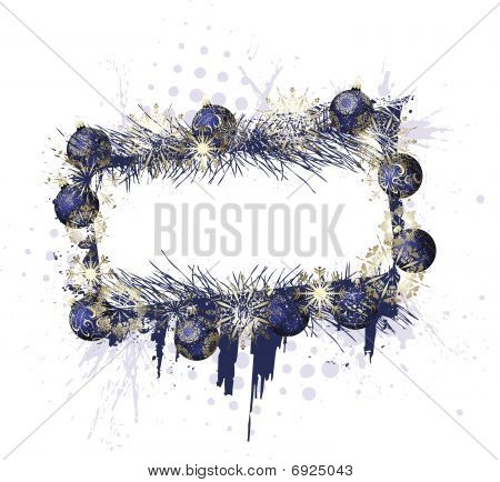 Grunge Christmas Purple Frame