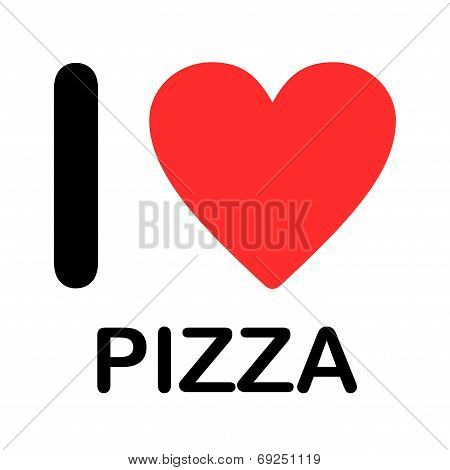 Font Type Illustration - I Love Pizza