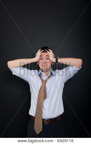 stressed & frustrated businessman