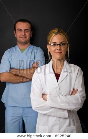 Successful and confident medical team