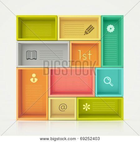 Colorful Shelves For Design