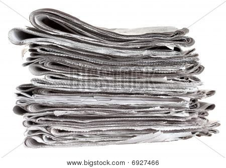 Pile Of Folded Newspapers