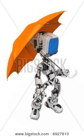 Blue Screen Robot, Umbrella