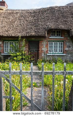old traditional Irish cottage