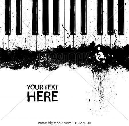 Grunge dirty piano keys