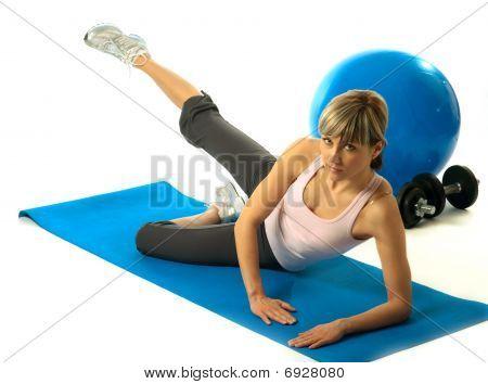 Sportswoman Practicing