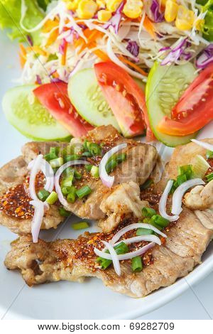 Thai Spicy-sour Grilled Pork