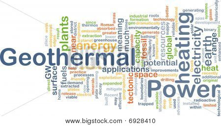 Geothermal Power Background Concept