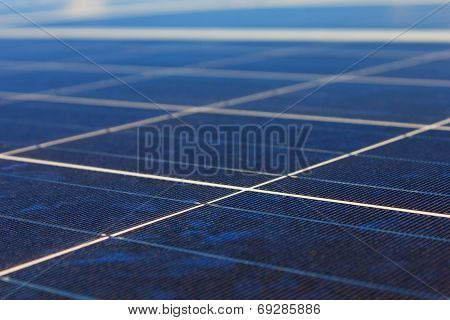 A Roof With Solar Panels Cells
