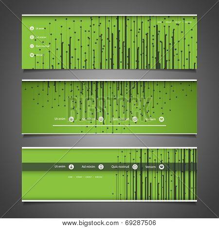 Web Design Elements - Header Design with Stars