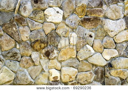 Old wall made of rocks and mortar poster