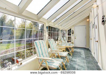 Bright Sun Room Interior
