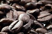 Coffee beans for background or others purpose use poster