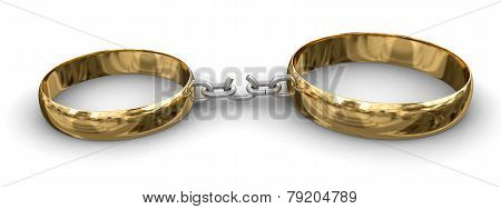 Connected rings (clipping path included)