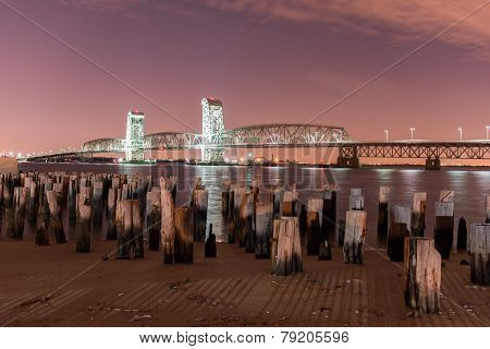 Marine Parkway-gil Hodges Memorial Bridge At Night
