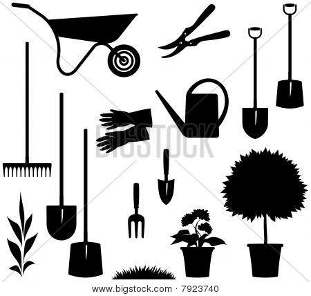 Gardening Items - Vector illustration