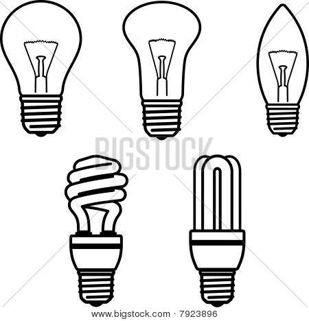 Light Bulbs - Vector illustration