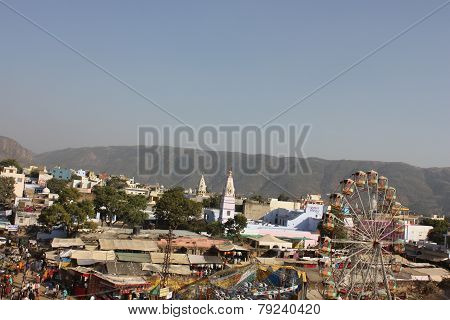 View From The Top Of The City Of Pushkar