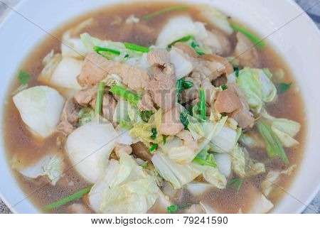 Fried Pork With Cabbage