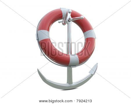 SOS life belt and anchor