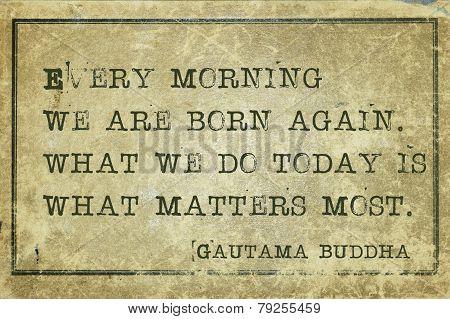 Morning Buddha