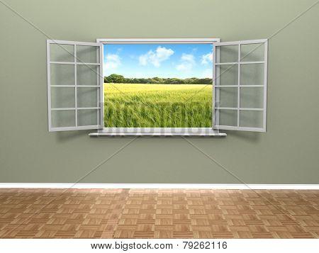 beautiful window view
