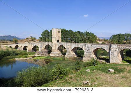 Medieval Bridge Over A River