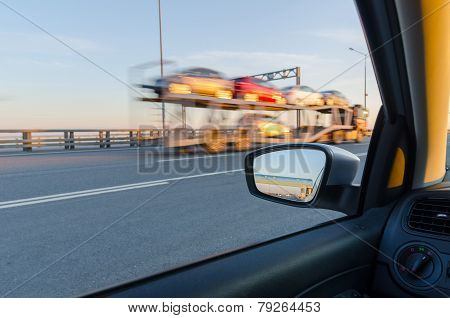 blurred action from car
