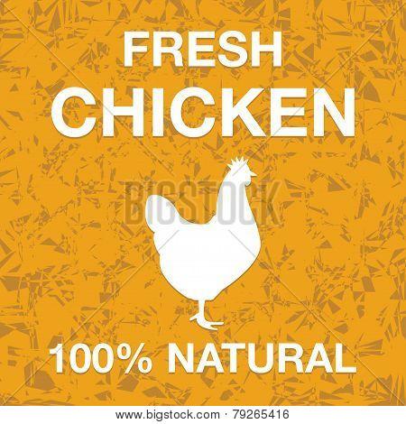 Fresh chicken poster