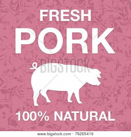 Fresh pork poster