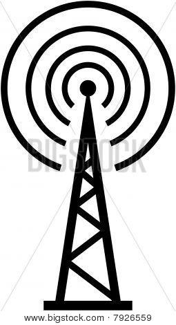 Radio translation. RTR - Vector illustration