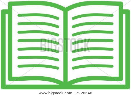 Open book - Vector illustration