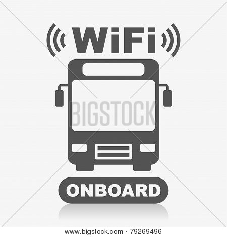 Bus, WiFi onboard icon