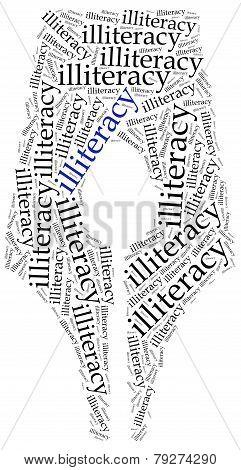 Illiteracy Problem Concept. Word Cloud Illustration.