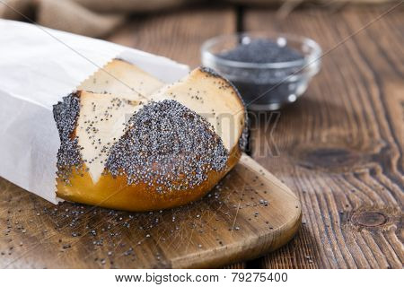 Fresh Baked Pretzel Roll (with Poppyseed)