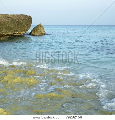 Jagged Cliff and Shoreline