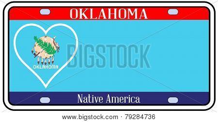 Oklahoma State License Plate