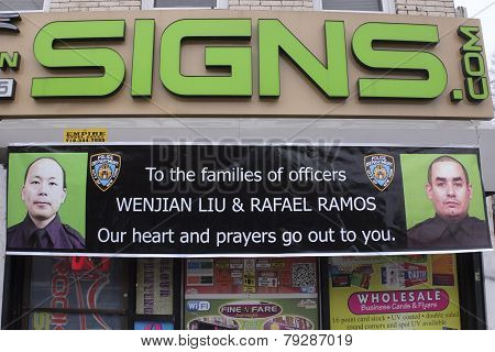 Community support sign in Dyker Heights